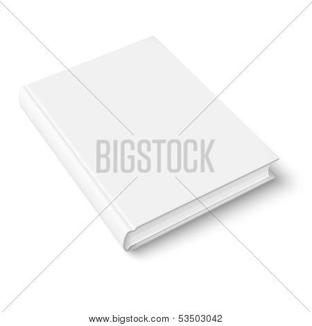 Blank book template.