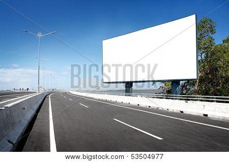 Blank Billboard Or Road Sign