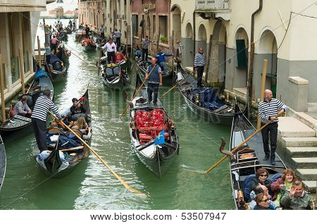 Tourists In Venice, Italy
