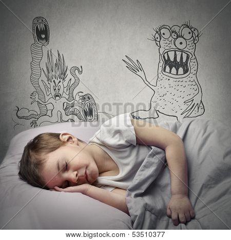 little child has nightmares