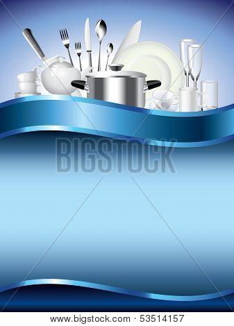 Crockery Vertical Vector Background
