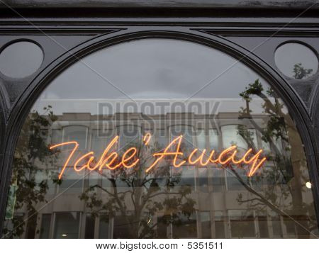 Take Away Sign In Window