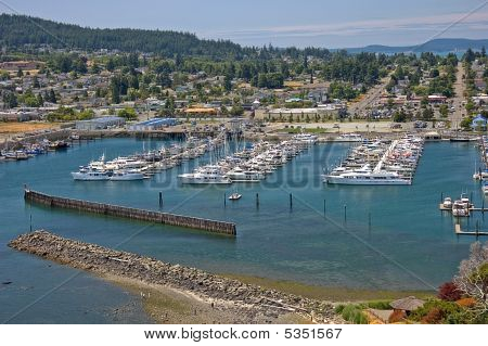 Marina Overlooking Anacortes Washington