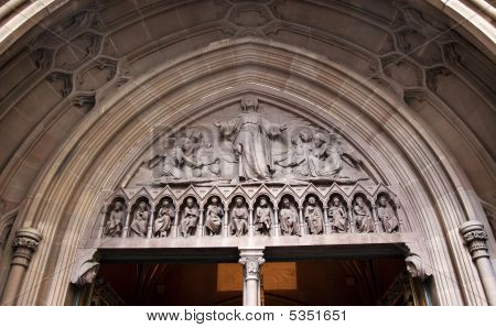 Christ Ascending Heaven Trinity Church Door New York City Outside
