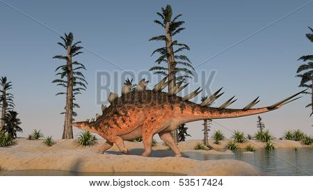 kentrosaurus walking