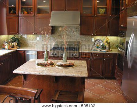 Постер, плакат: Стильный кухня, холст на подрамнике