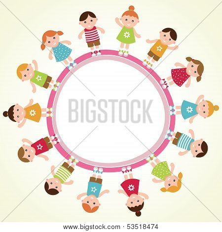 Kids frame. Vector illustration.