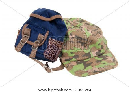Backpack And Baseball Hat
