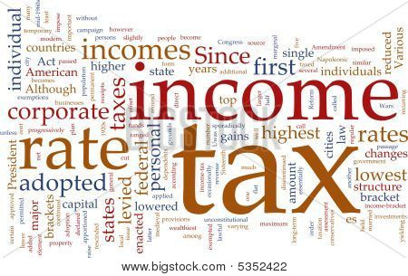Income Tax Word Cloud