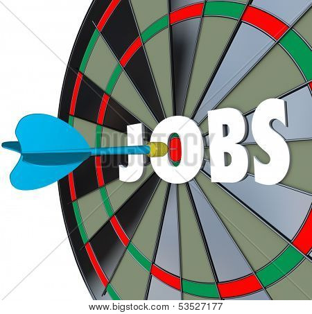 Jobs Dartboard Aiming for New Career