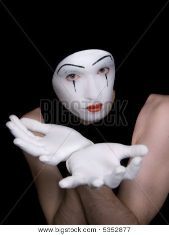 Malicious Mime On  Black Background