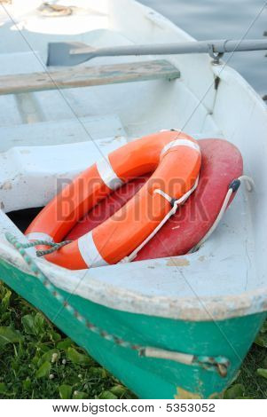 Boat Of Rescuers.