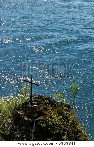 Cross At Lake