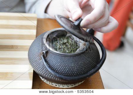 Tea In Tetsubin Teapot