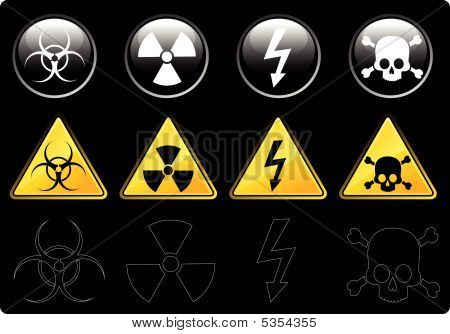 Icons With Warning Symbols