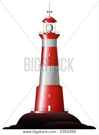Lighthouse - isolated on white