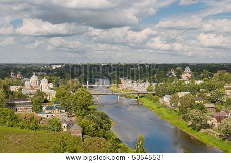 View Of The City And River Tvertsa