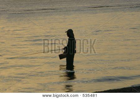 Wading Fisherman