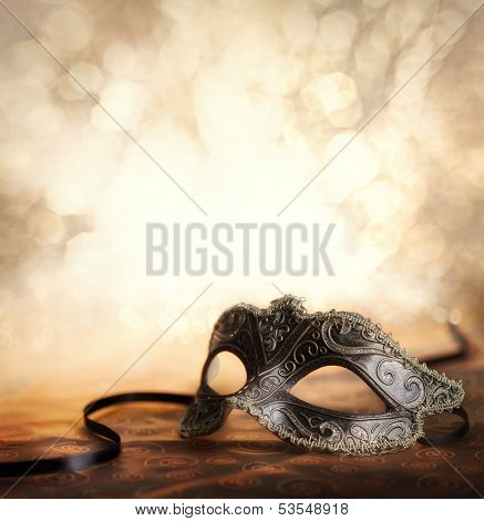 party sill life with mask