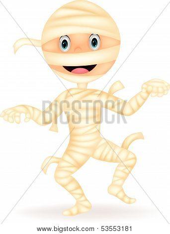 Mummy cartoon walking