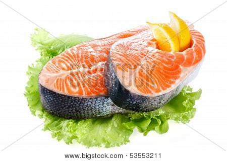Salmon Steak Isolated