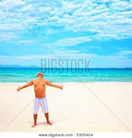 Man Enjoy Sun