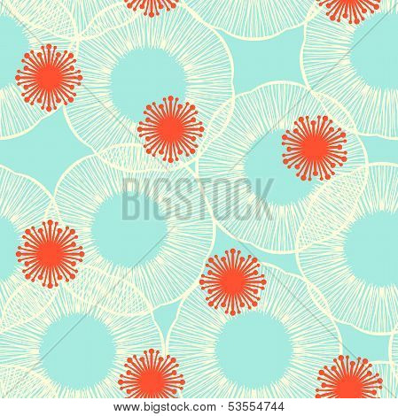 Pattern with stylized flowers or jelly fishes