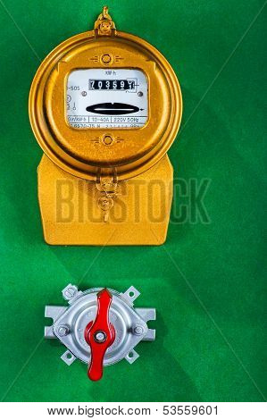 Electric Meter With Toggle Switch