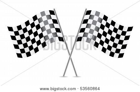 Checkered Flags (racing flags). Vector illustration.