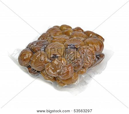 Vacuum packed chestnuts