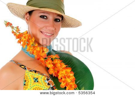 Woman Summer Clothing Flower