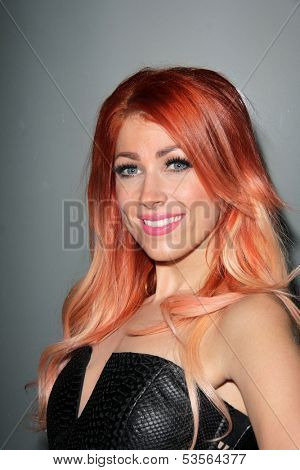 LOS ANGELES - NOV 7:  Bonnie McKee at the Flaunt Magazine November Issue Party at Hakkasan on November 7, 2013 in Beverly Hills, CA