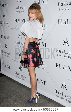 LOS ANGELES - NOV 7:  Bella Thorne at the Flaunt Magazine November Issue Party at Hakkasan on November 7, 2013 in Beverly Hills, CA