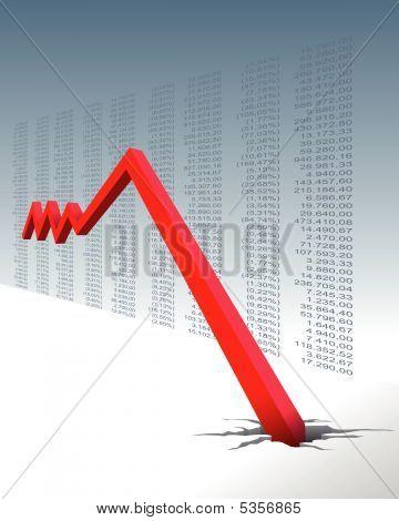 Absturz in der Börse