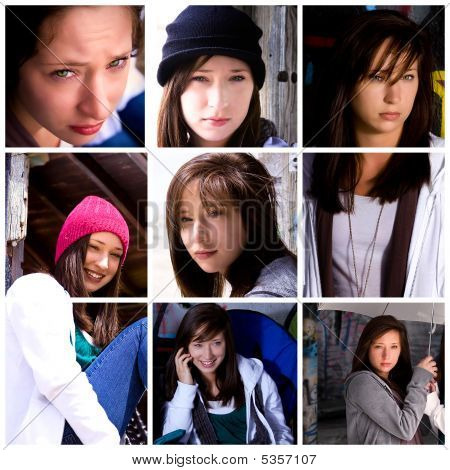 Beautiful Teenager Collage