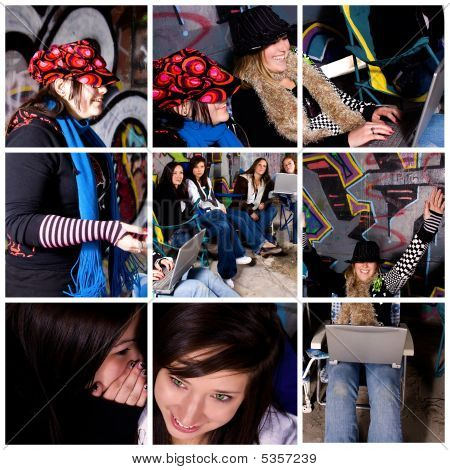 Teenager Girls Collage