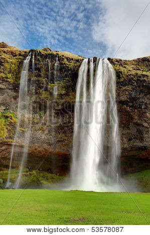 Seljalandsfoss. Beautiful Waterfall In Southern Iceland.