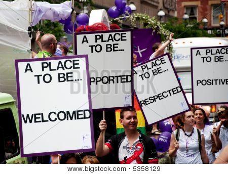 Toronto Pride Parade Banners