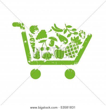 Shopping cart fruit
