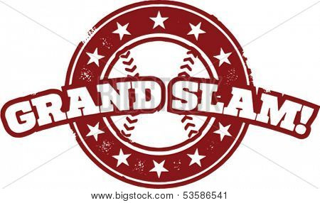 Baseball Grand Slam Home Run Stamp