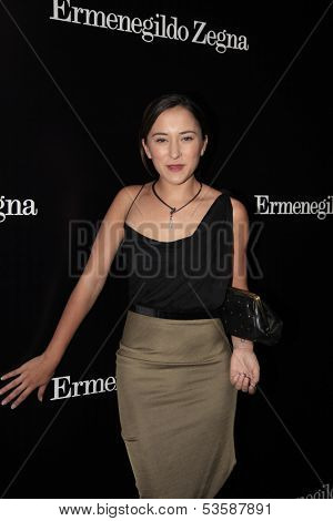 LOS ANGELES - NOV 7:  Zelda Williams at the Ermenegildo Zegna Global Store Opening at Ermenegildo Zegna Boutique on November 7, 2013 in Beverly Hills, CA