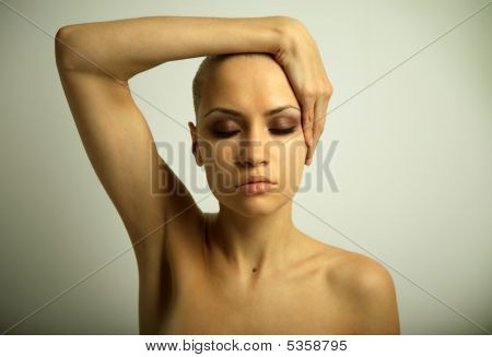 Portrait Of Girl With Make-up