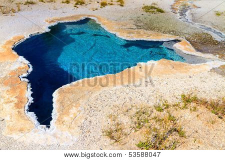 Yellowstone National Park, Blue Star Spring In The Upper Geyser Basin, Wyoming