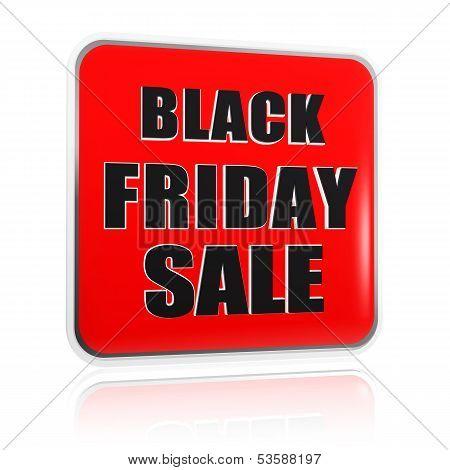 Black Friday Sale Red Black Banner