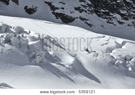 Skiing On The Glacier