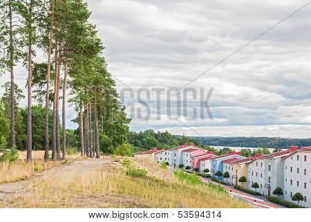 Residential Neighborhood Surrounded By Nature