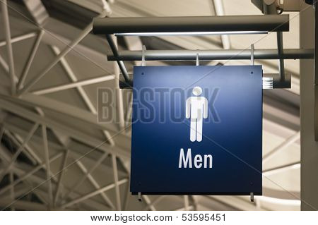 Men's Restroom Male Lavatory Sign Marker Public Building Architecture Structure