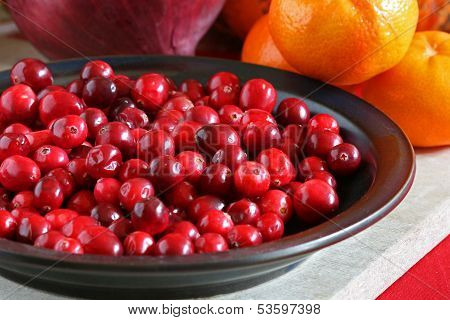 Bright Red Cranberries