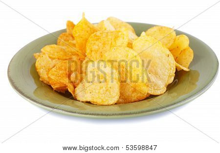 Potato Chips On Plate