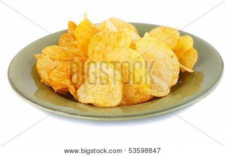 Potato Chips On Plate